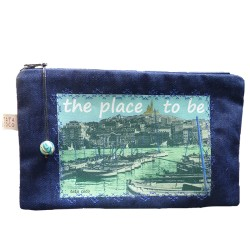 pochette jeans bleu place to be
