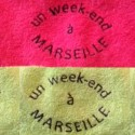 Serviette invité un week-end à Marseille